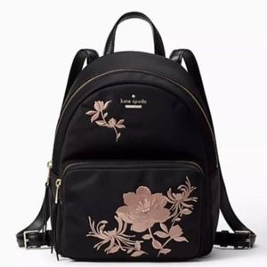 KATE SPADE Embroidered Floral BACKPACK ~ Nylon